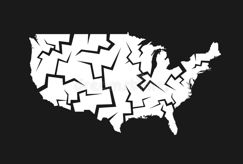 Desintegración de los E.E.U.U. libre illustration
