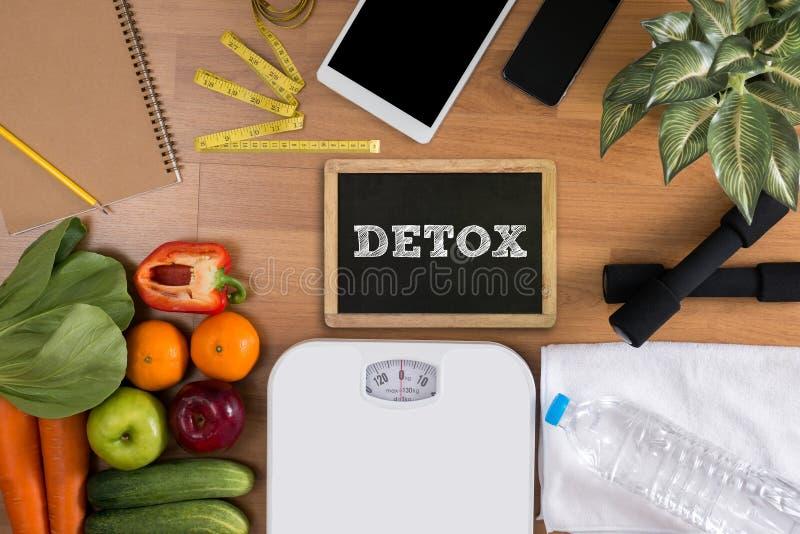 Desintoxicação, escolha do alimento/alimento saudável foto de stock