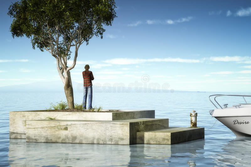 Download Desire stock illustration. Image of nature, ocean, person - 24214742