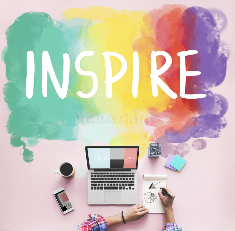 Desire Inspire Goals Follow Your drömmer begrepp arkivbilder