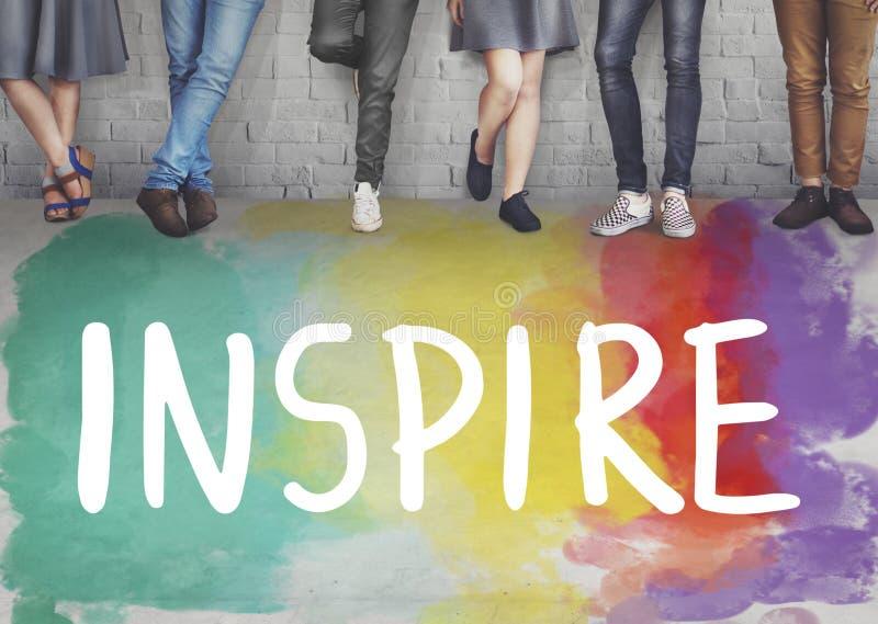 Desire Inspire Goals Follow Your droomt Concept stock foto