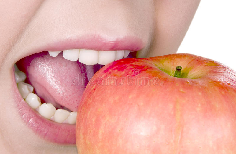 Download Desire To Eat An Apple Royalty Free Stock Photos - Image: 20737998