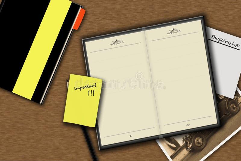 Download Desk stock illustration. Image of finance, black, calendar - 24860368