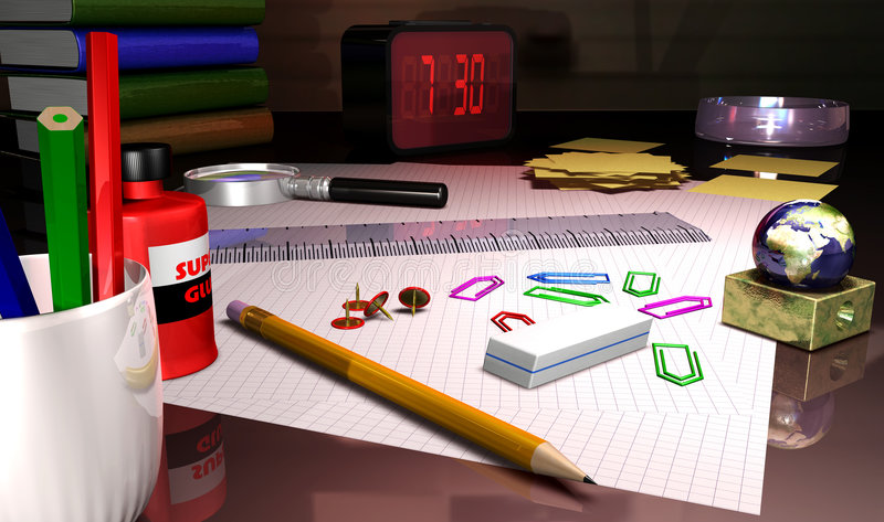 Desk vector illustration
