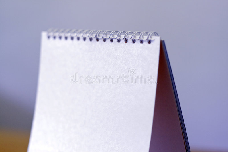 Desk calendar stock photography