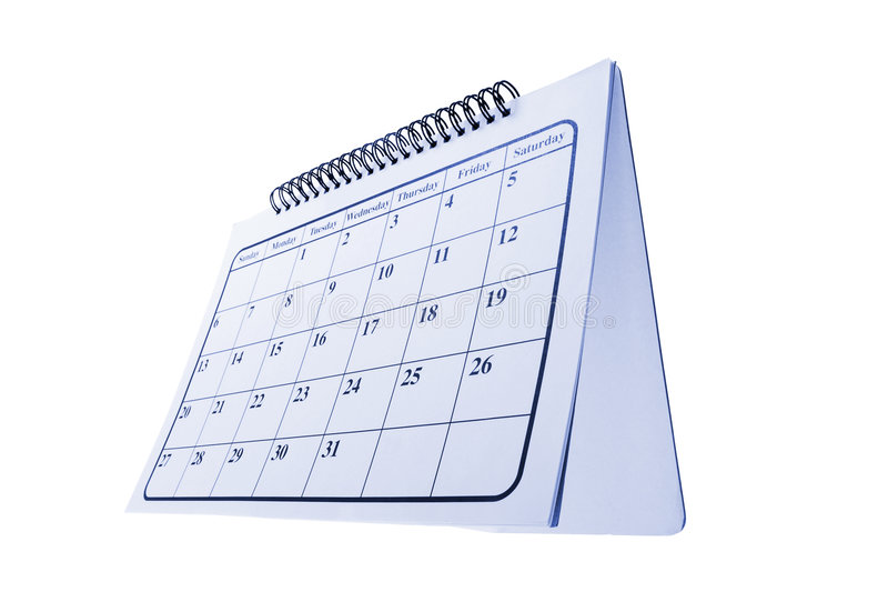 Desk Calendar royalty free stock photos