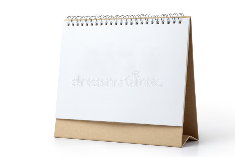 desk calendar stock image
