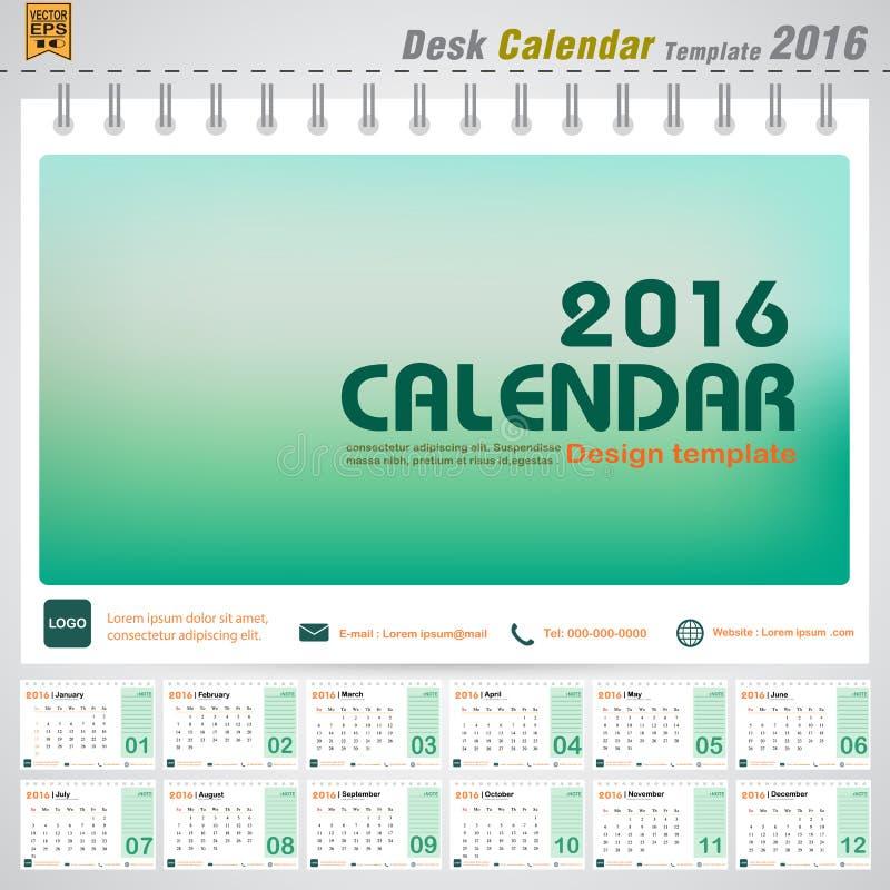 Cover Calendar Design Vector : Desk calendar vector modern green concept design