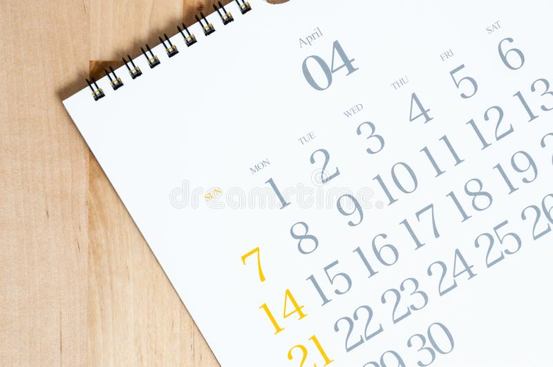 2019 desk calendar on the wood table royalty free stock image