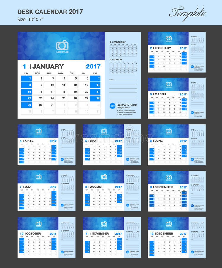 Xs Calendar April : Desk calendar for year vector design template stock