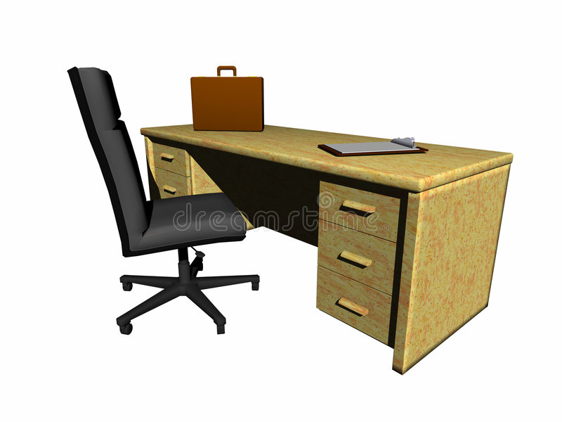 Desk with chair. royalty free illustration
