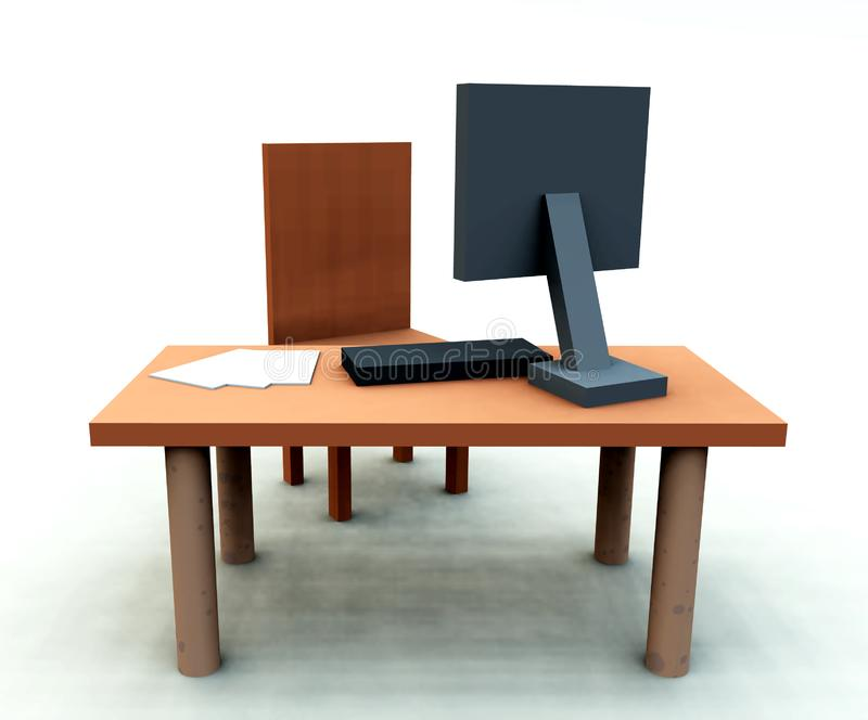 Desk With Chair 4 stock images