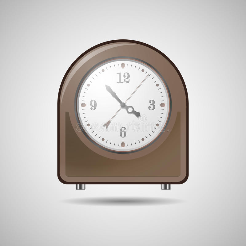 Desk clock stock photography