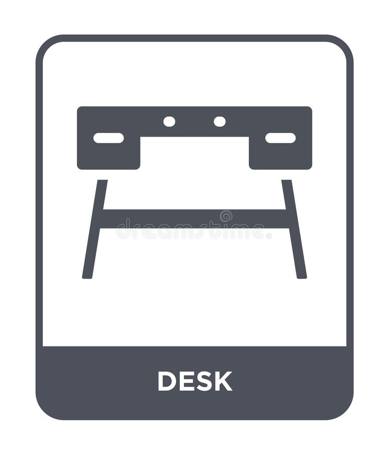 desk icon in trendy design style. desk icon isolated on white background. desk vector icon simple and modern flat symbol for web vector illustration