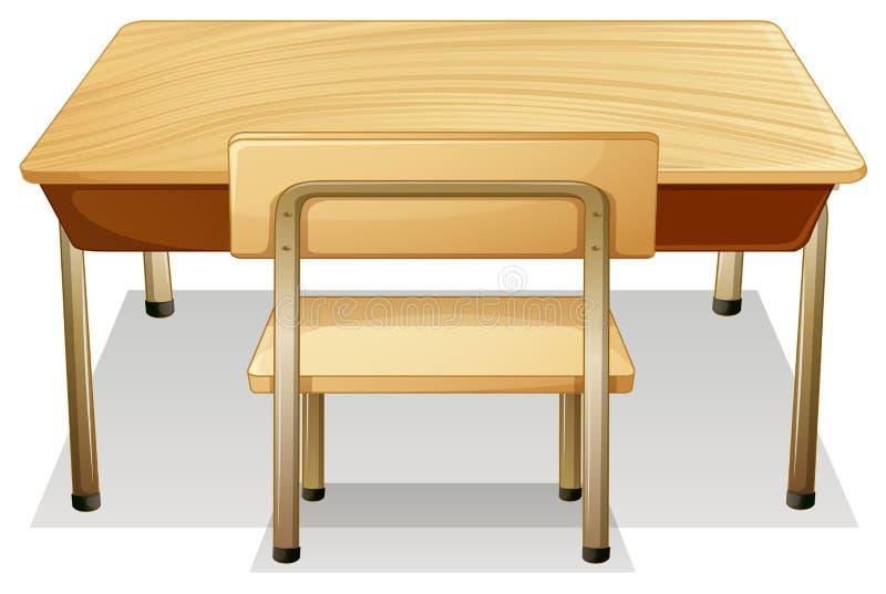 Desk stock illustration