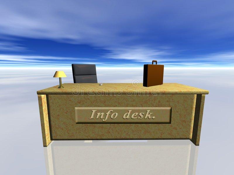 desk info 向量例证