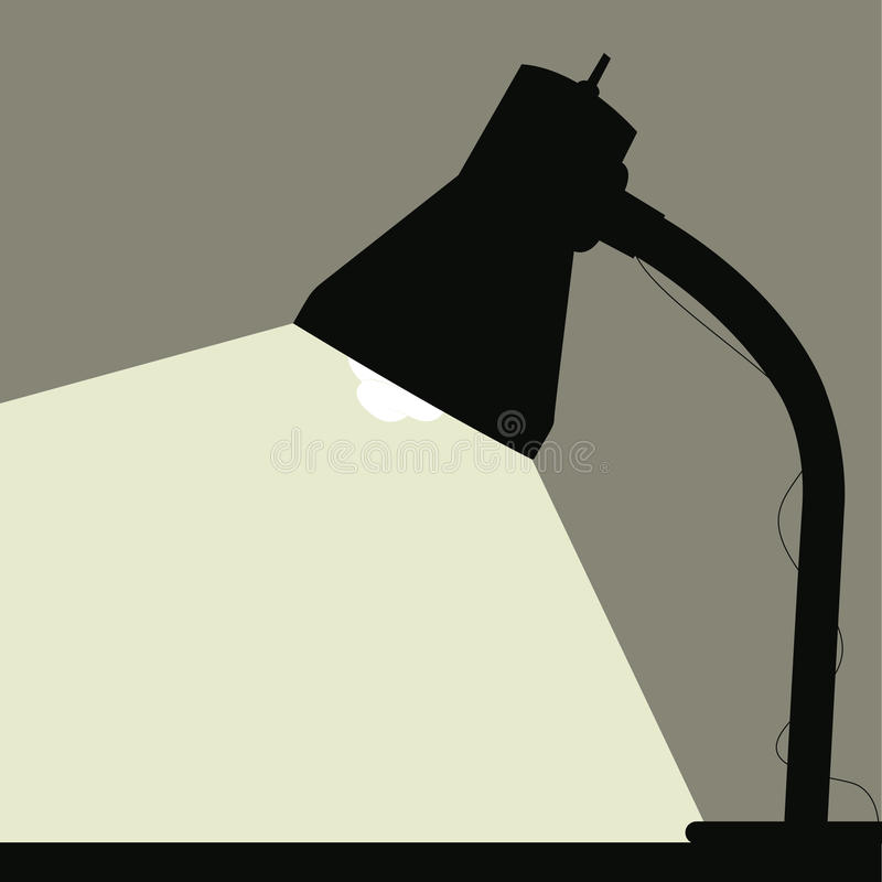 Desk Lamp vector illustration