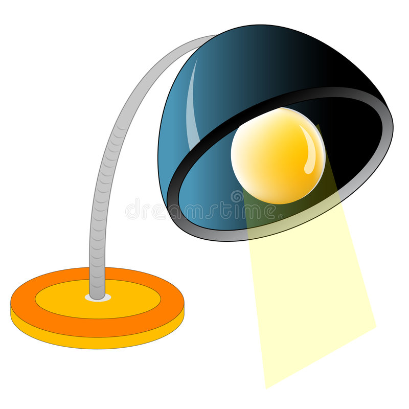Download Desk Lamp stock illustration. Image of orange, bulb, lamp - 2429599