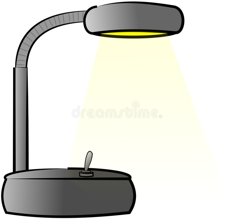 Desk lamp stock illustration