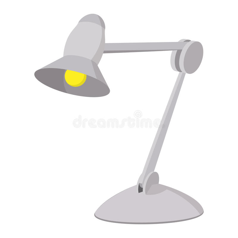 Desk lamp cartoon icon. On a white background royalty free illustration