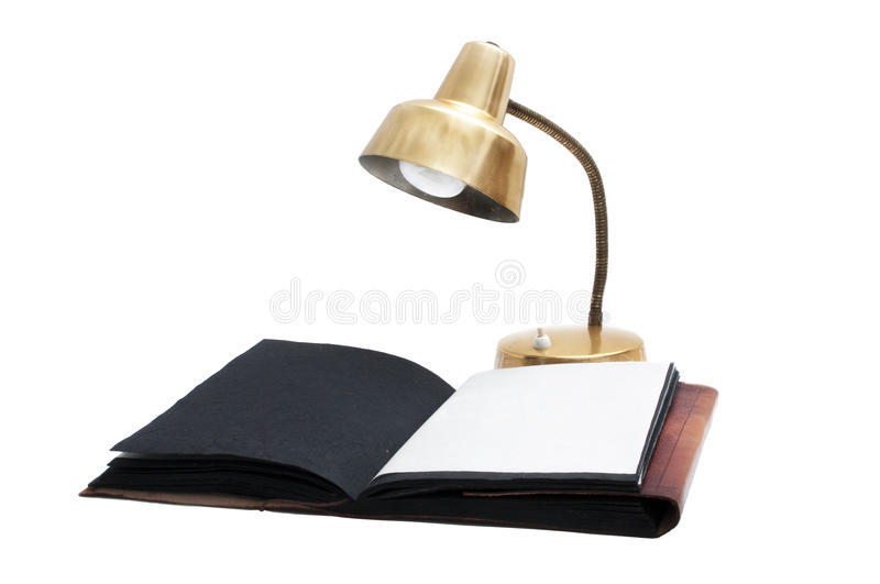 Download Desk lamp and old book stock image. Image of book, background - 25937867