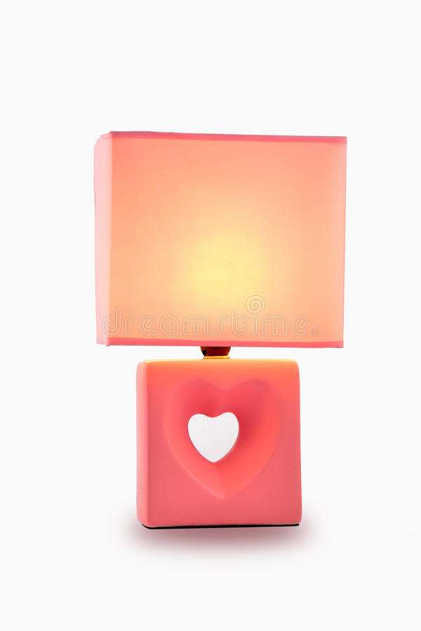 Christmas gift The wedding gift Valentines Day romantic pink Desk lamp table light stock photos