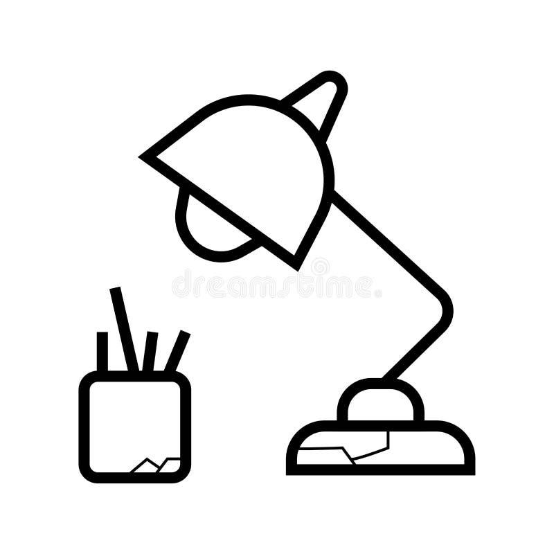 Desk light lamp icon royalty free illustration