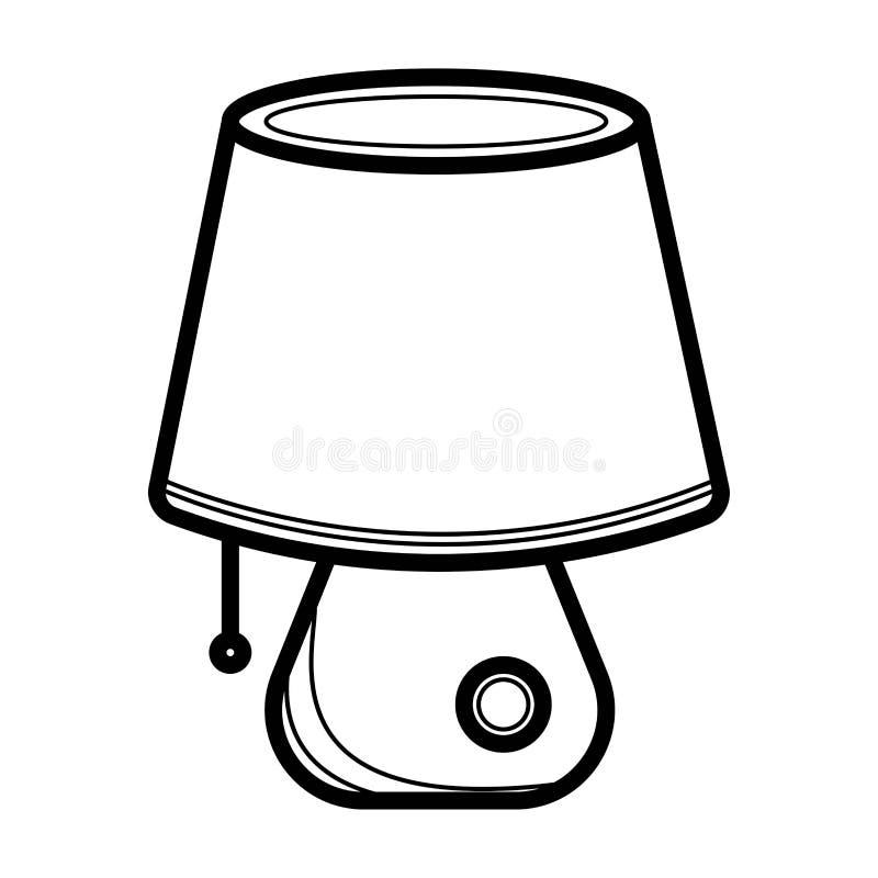 Desk light lamp icon stock illustration