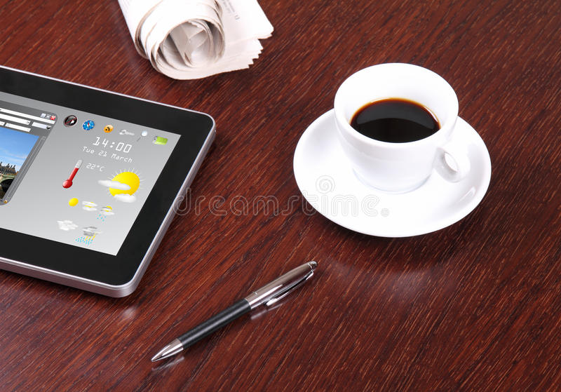 Download Desk in office stock photo. Image of blank, internet - 27012526
