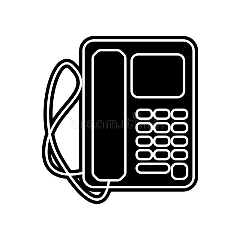 Desk phone icon. Element of Media tool for mobile concept and web apps icon. Glyph, flat icon for website design and development,. App development on white vector illustration