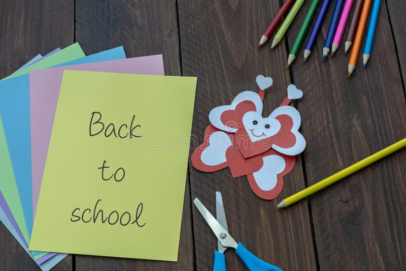 Materials for crafts. Back to School Concept stock images