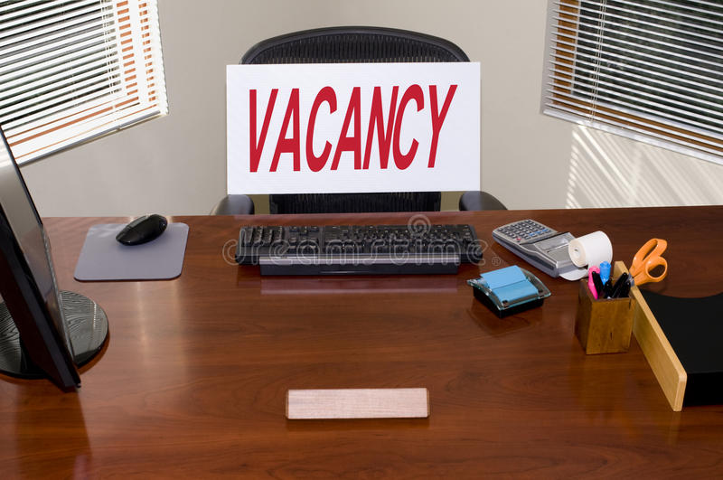 Download Desk and Vacancy Sign stock photo. Image of clean, concepts - 12123938