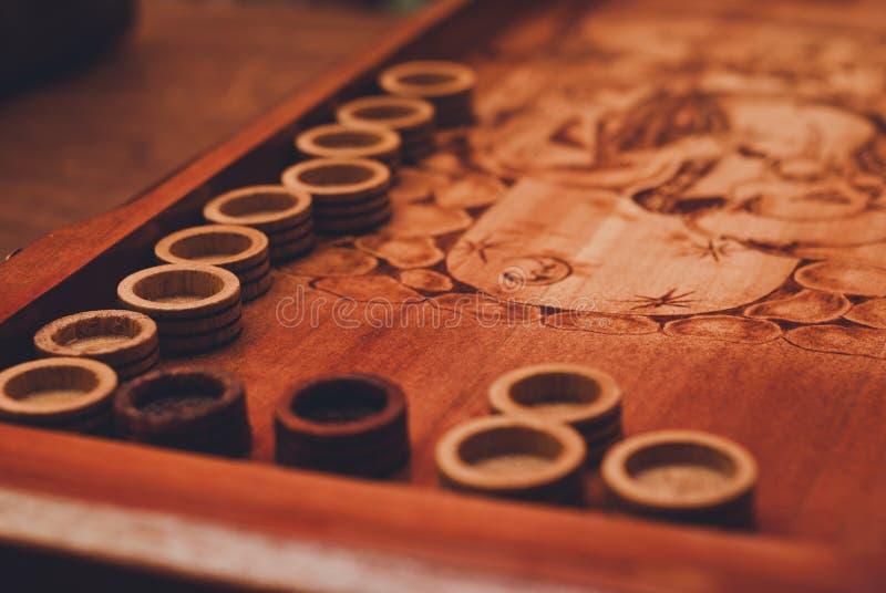 Deska dla gry trik-trak zdjęcia stock