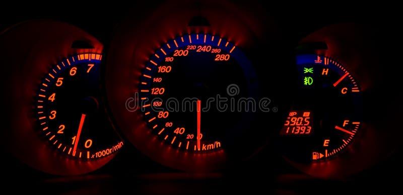 deska rozdzielcza iluminująca drogowa zdjęcie stock