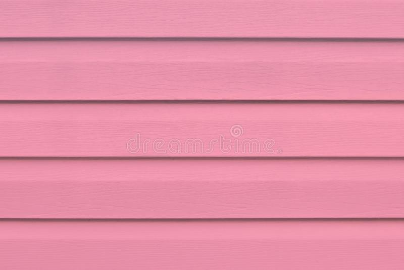 Deska - szalunek Malujący drewniany stół w liniach Jaskrawe różowe drewno deski Pasiasty panel, powierzchnia, tło Czerwony drewni fotografia royalty free