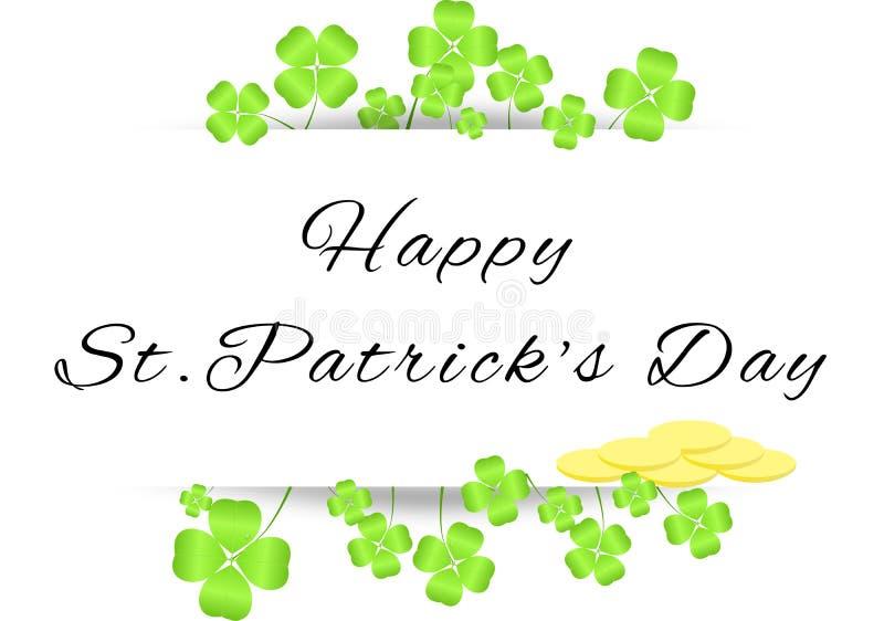 Deska z powitaniami na St. Patrick dniu ilustracji