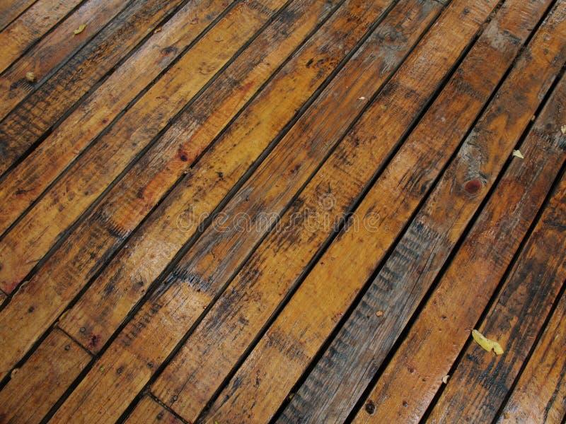 deski 1 moczą drewna obrazy stock