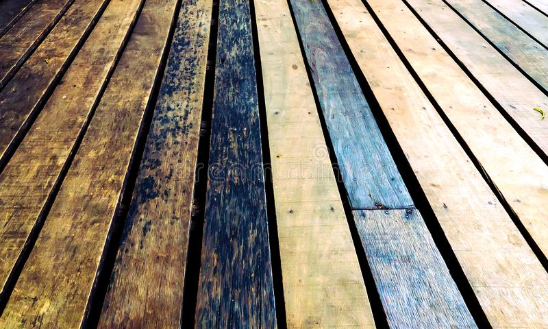 Deski boardwalk tarasu tekstury drewna tło fotografia royalty free