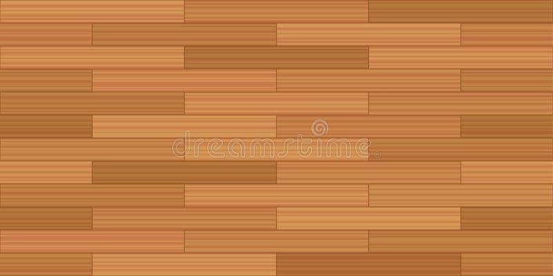 Deski cegły Podłogowej więzi Parkietowy Bezszwowy wzór ilustracja wektor
