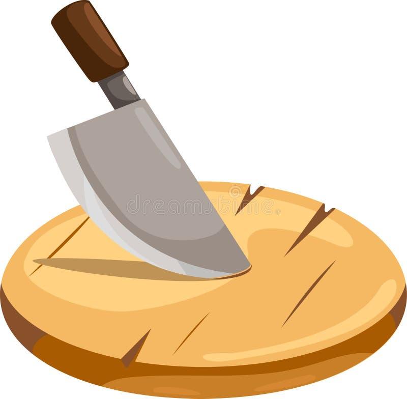 deski target557_1_ nożowy drewnianego ilustracji