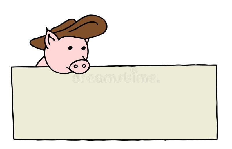 deskowa świnia ilustracji