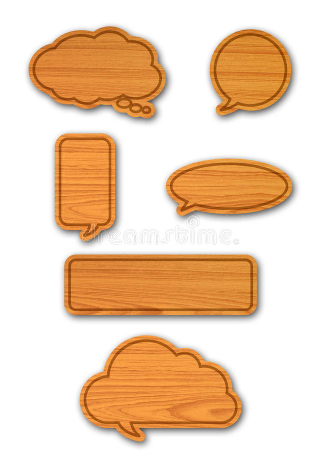 Deskowa drewno mowa gulgocze set ilustracja wektor