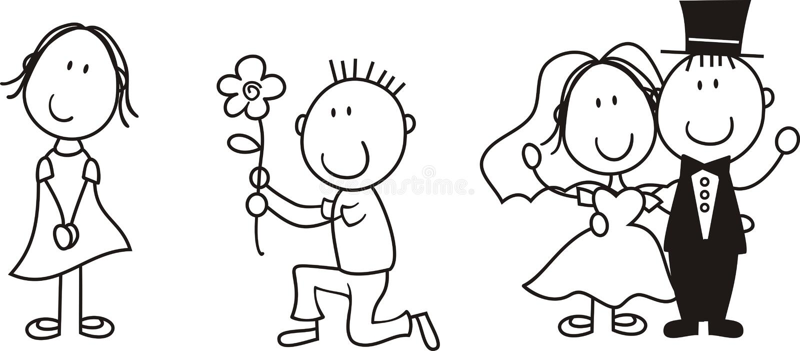 deskowa historia miłosna ilustracji