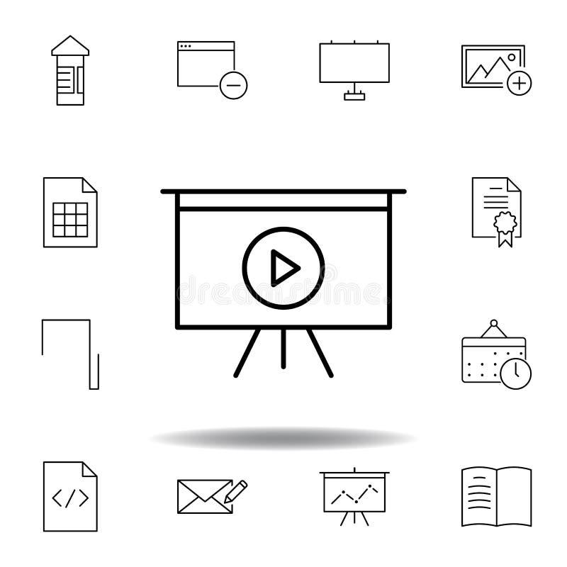 Deskowa pok?ad sztuki konturu ikona Szczegółowy set unigrid ilustracji multimedialne ikony Mo?e u?ywa? dla sieci, logo, mobilny a ilustracji