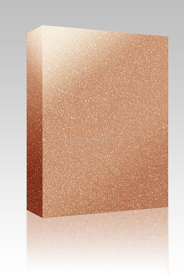 deskowa pudełka korka pakunku tekstura royalty ilustracja