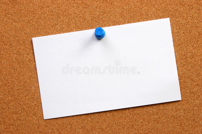 deskowa pusta karta zdjęcia stock