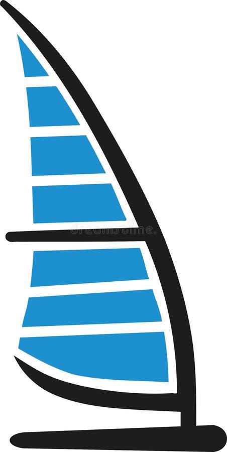 Deskowa Windsurfing ikona ilustracja wektor