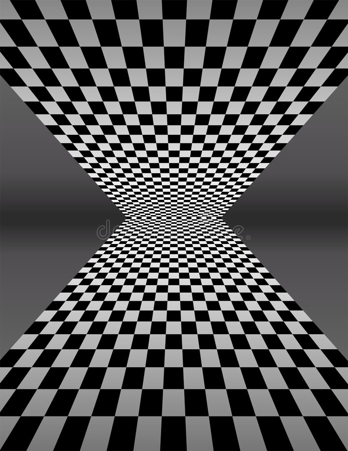 deskowego checker ilustracyjny perspektywy wektor ilustracji