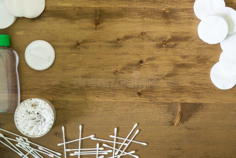 Deskowego tła bawełniani mopy obraz stock