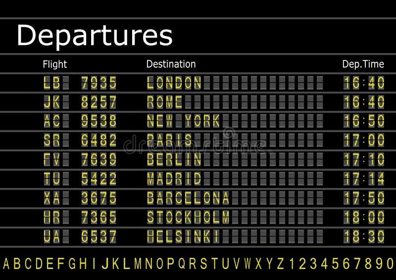 deskowi lotnisko odjazdy royalty ilustracja